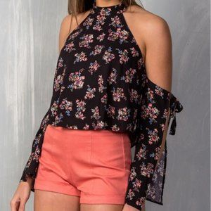 Mustard Seed Black Floral Off the Shoulder small